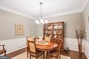 Dining - Neutral Paint Palette & Bronze Chandelier - 20505 LITTLE CREEK TER #302, ASHBURN