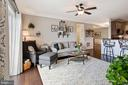 Living Room - Ceiling Fan & Overhead Light Fixture - 20505 LITTLE CREEK TER #302, ASHBURN