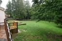 backyard View from Side Entrance - 10635 PINEY BRANCH RD, SPOTSYLVANIA