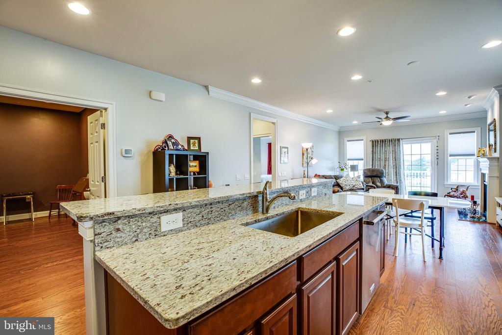 Granite countertops, single bowl stainless sink! - 238 LONG POINT DR, FREDERICKSBURG
