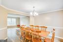 Formal dinning room connects to formal living room - 67 SAINT ROBERTS DR, STAFFORD