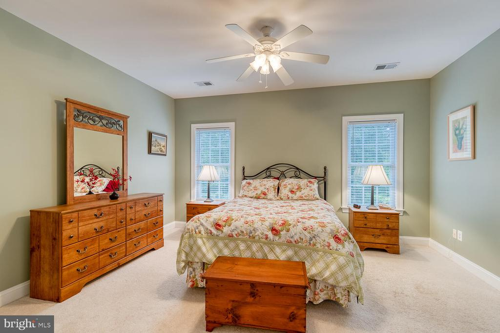 Primary suite with french doors - 8635 LAROQUE RUN DR, FREDERICKSBURG