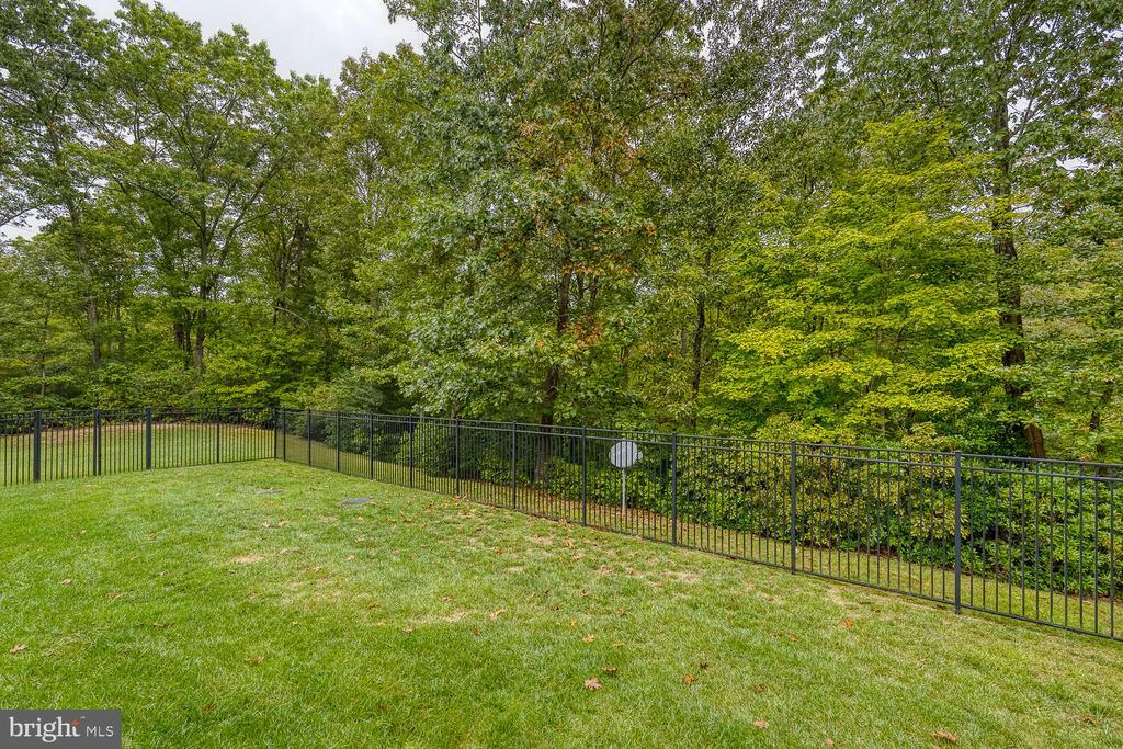 Fenced rear yard - 8635 LAROQUE RUN DR, FREDERICKSBURG