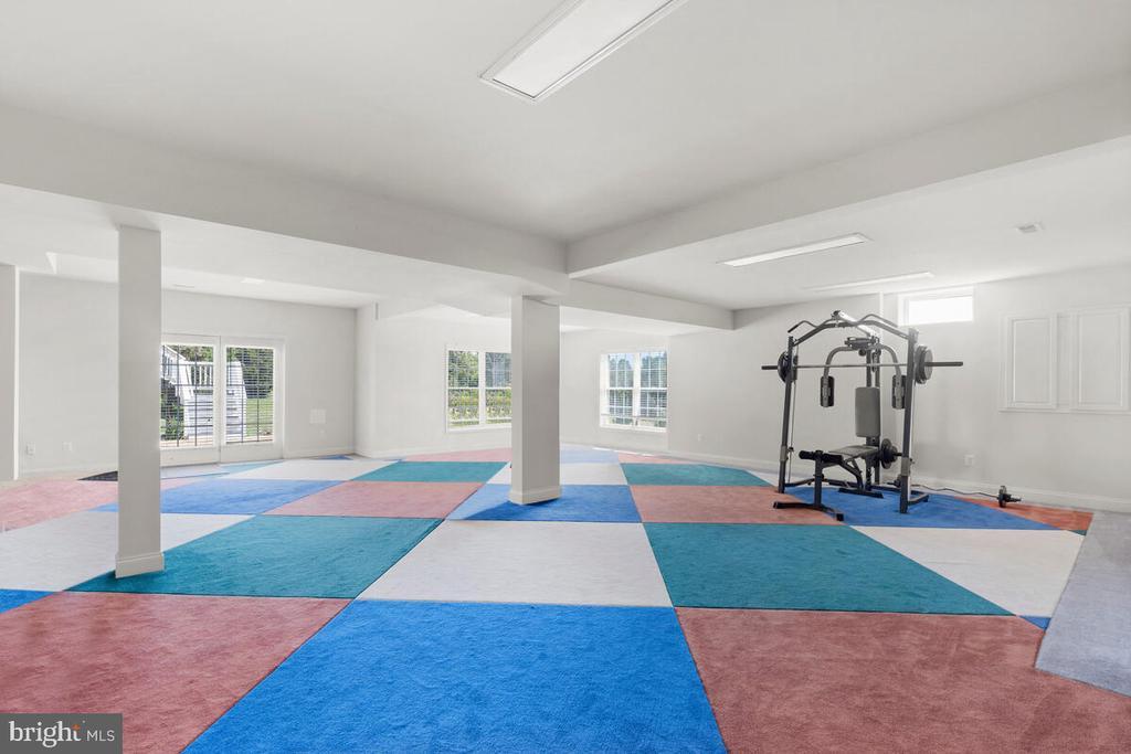 Wide-open basement floorplan. - 17566 TOBERMORY PL, LEESBURG