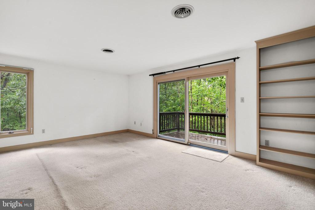 Primary Bedroom with Slider to Private Deck - 7335 DANCE HALL RD, FREDERICK