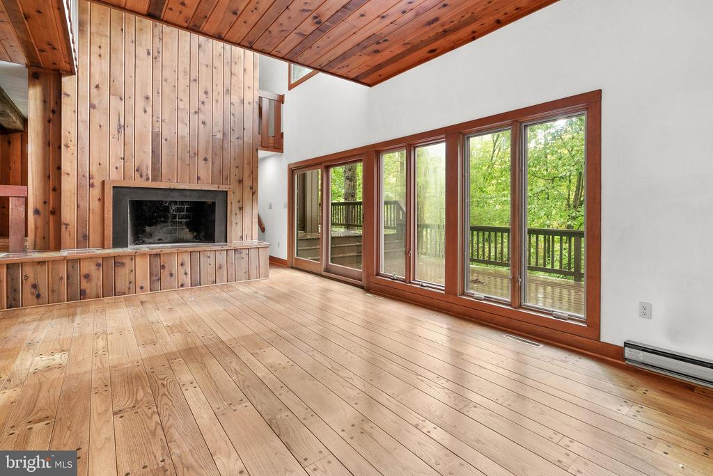 Family Room with Sliders to Deck - 7335 DANCE HALL RD, FREDERICK