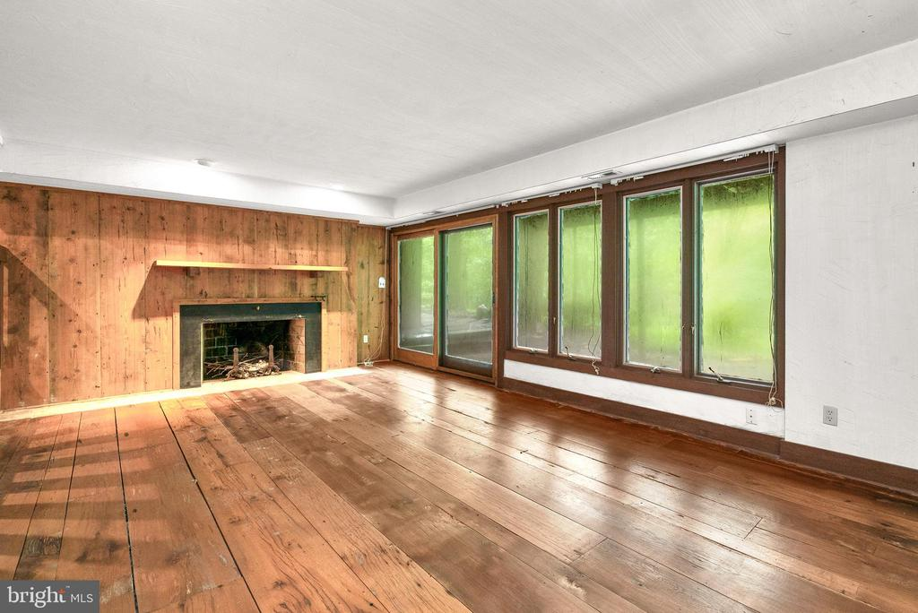 Lower Level Rec Room with Wood Burning Fireplace - 7335 DANCE HALL RD, FREDERICK