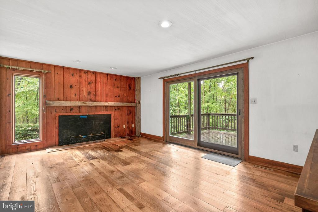 Living Room with Sliders to Deck - 7335 DANCE HALL RD, FREDERICK