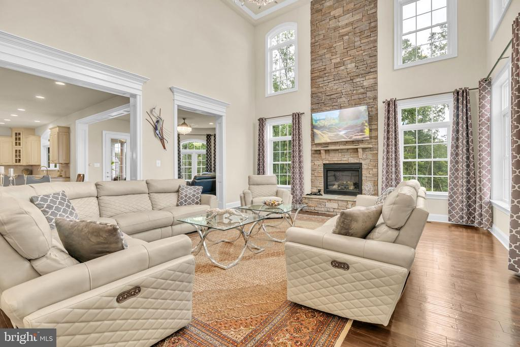 2-Story Family Room w/2-Story Stone Gas Fireplace - 41219 TRAMINETTE CT, ASHBURN