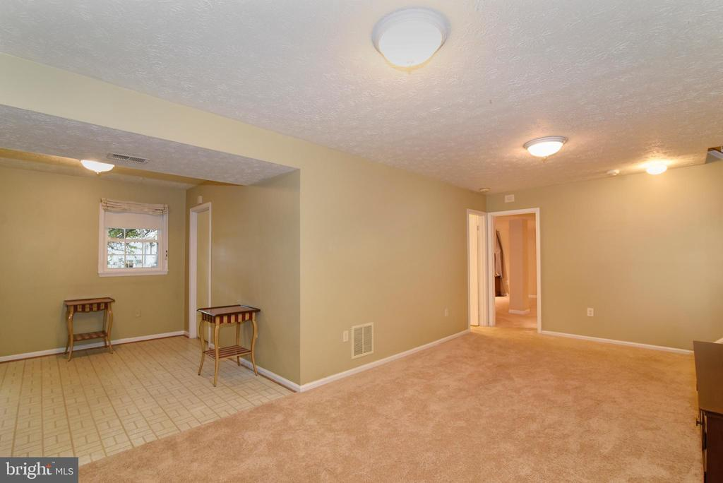 Lower level with SGD to second rear patio area - 12818 FANTASIA DR, HERNDON