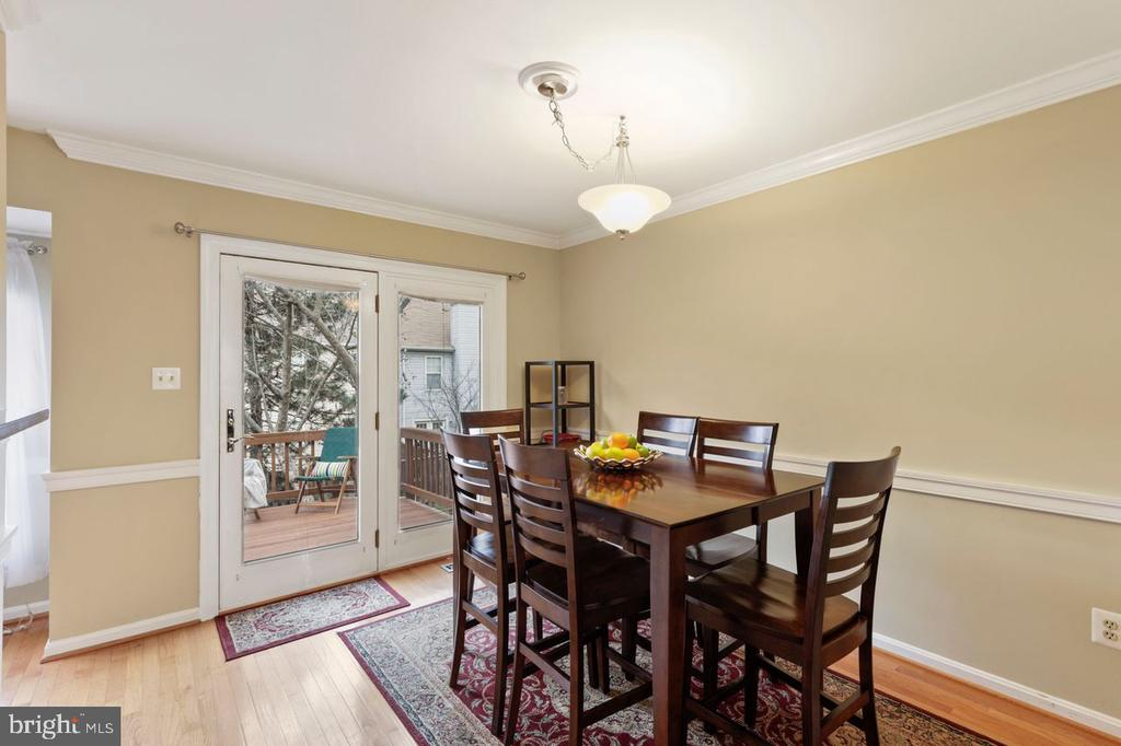 Dining Room off Living Room and Kitchen - 22082 MANNING SQ, STERLING