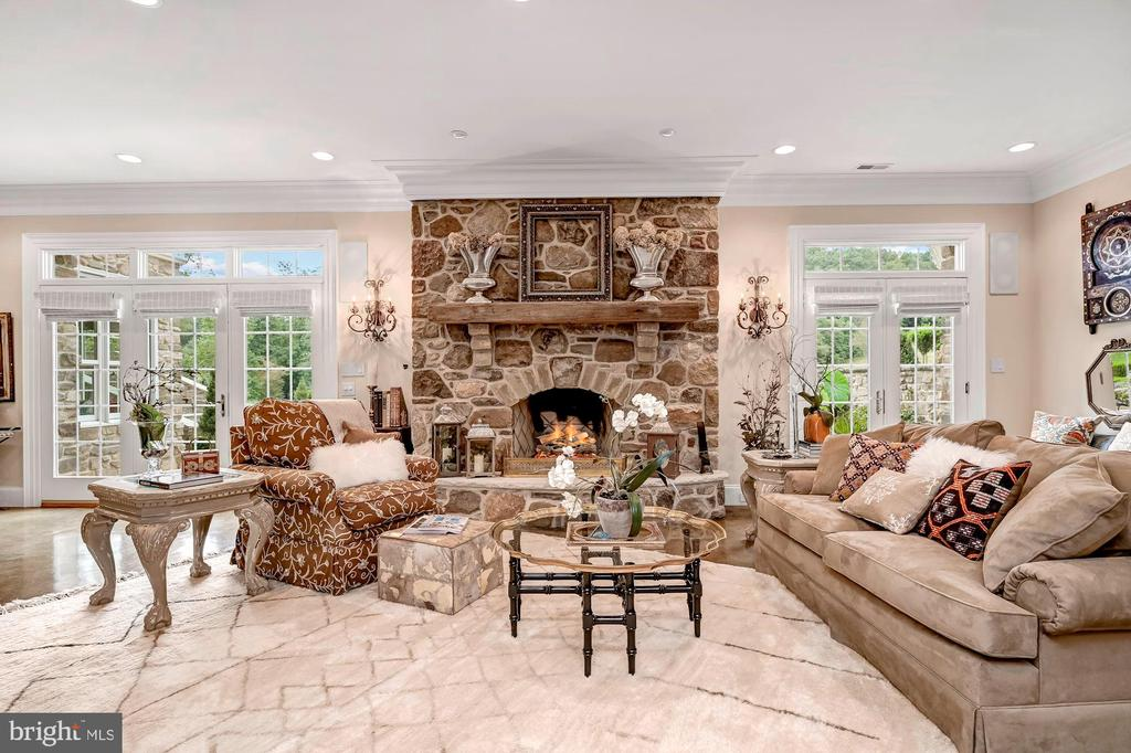 Recreation & Stone Wood Burning Fireplace - 7549 FINGERBOARD RD, FREDERICK