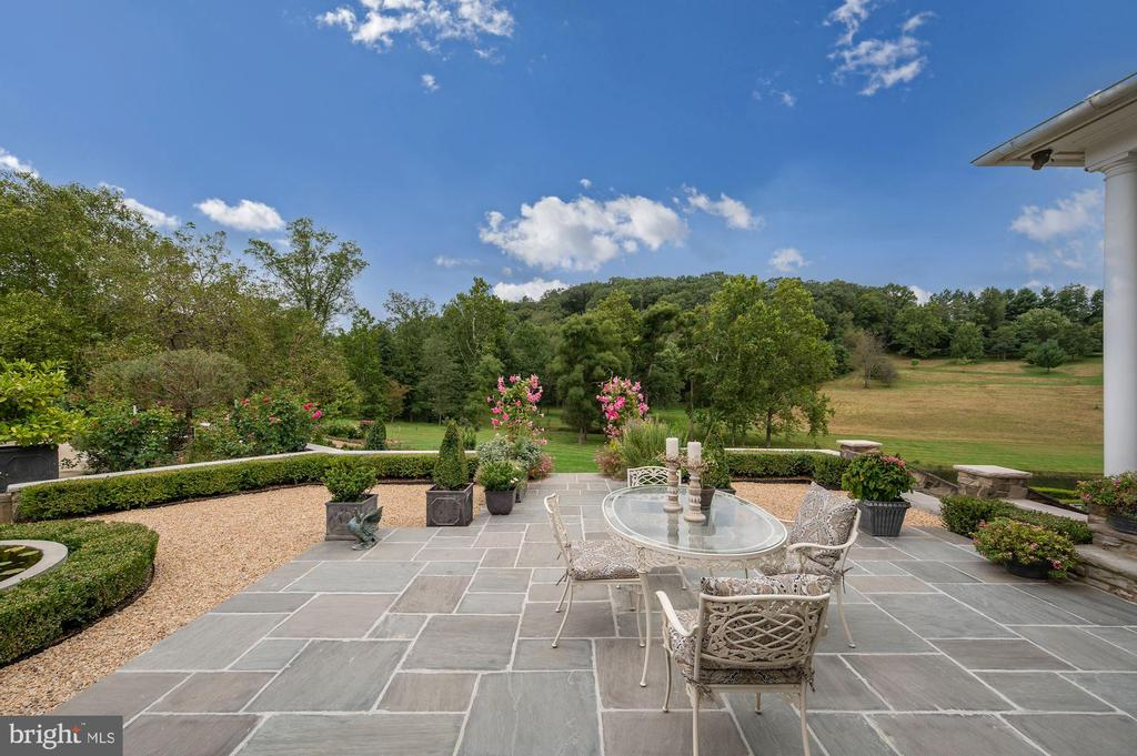 Stone Dining Patio Overlooking Park & Pond - 7549 FINGERBOARD RD, FREDERICK