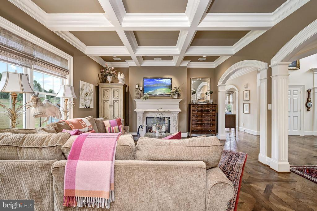 Family Room & Coffered Ceiling - 7549 FINGERBOARD RD, FREDERICK