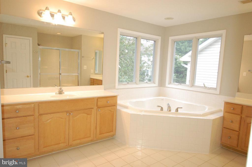 Primary bathroom TWO vanities - 8599 EASTERN MORNING RUN, LAUREL