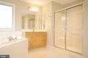 Primary bathroom separate tub and shower - 8599 EASTERN MORNING RUN, LAUREL