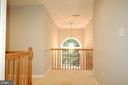 Light filled hallway.  Elegant  radius  window - 8599 EASTERN MORNING RUN, LAUREL