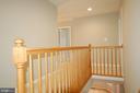 Hallway oak railing - 8599 EASTERN MORNING RUN, LAUREL