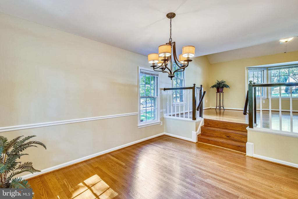 Nicely separated living room dining room - 11955 GREY SQUIRREL LN, RESTON