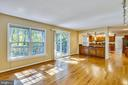 Small overhang can accommodate bar stools - 11955 GREY SQUIRREL LN, RESTON