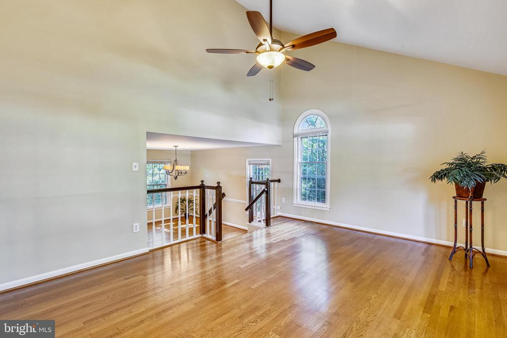 Livingroom opens to Dining room - 11955 GREY SQUIRREL LN, RESTON