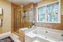 Soaking tub with tall shower - 11955 GREY SQUIRREL LN, RESTON