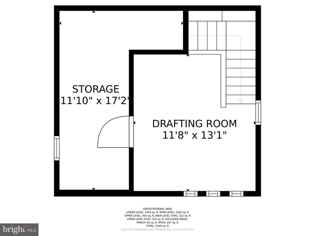 UPPER LEVEL - STUDIO - 13814 ALDERTON RD, SILVER SPRING