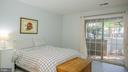 Bedroom-1 with lovely patio - 11713-D KARBON HILL CT #707A, RESTON