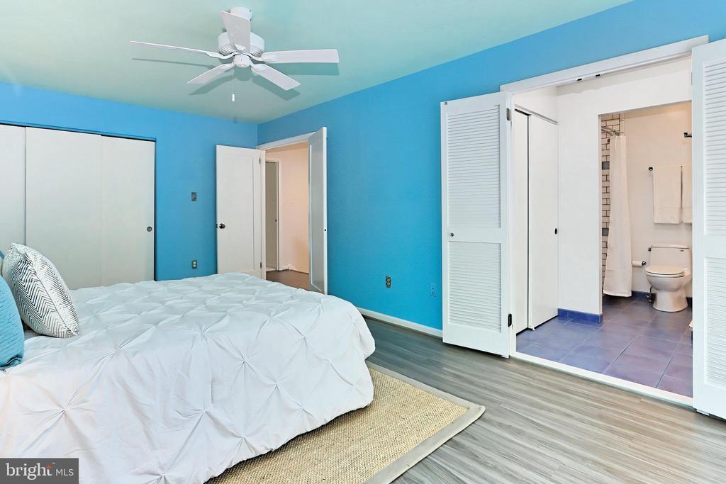 Double doors open to the Primary Bedroom & Bath - 11704 NEWBRIDGE CT, RESTON
