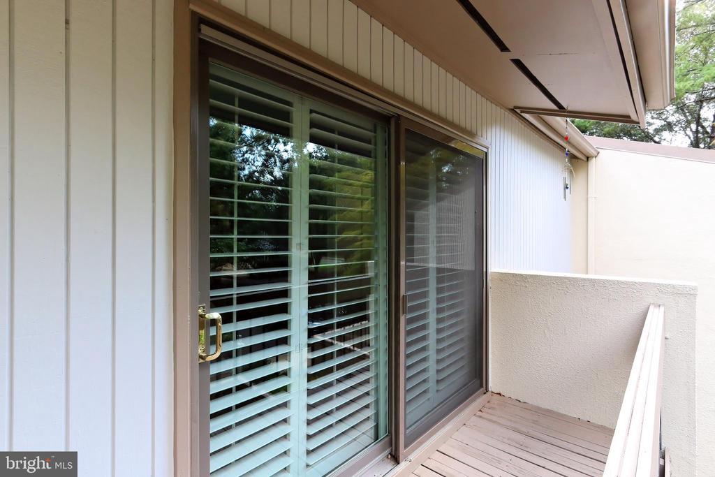 Private deck off the Primary Bedroom - 11704 NEWBRIDGE CT, RESTON