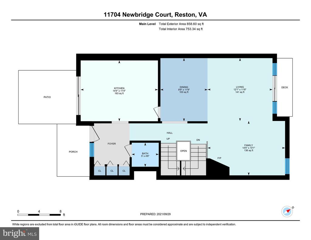 Main Level Floor Plan - 11704 NEWBRIDGE CT, RESTON
