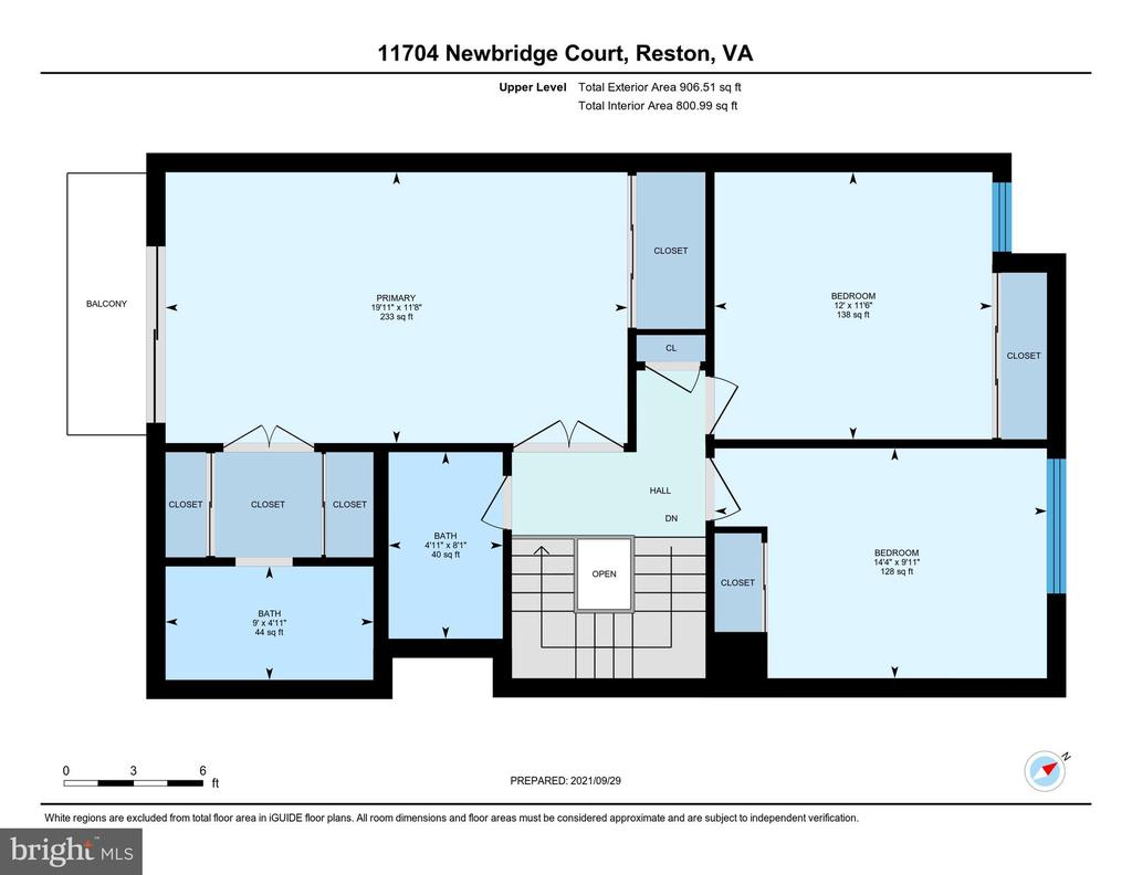 Upper Level Floor Plan - 11704 NEWBRIDGE CT, RESTON