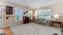 Living room; hardwood floor to the front door - 9835 PLAZA VIEW WAY, FREDERICKSBURG