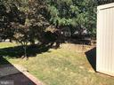 Another view of back yard; corner of shed at right - 9835 PLAZA VIEW WAY, FREDERICKSBURG