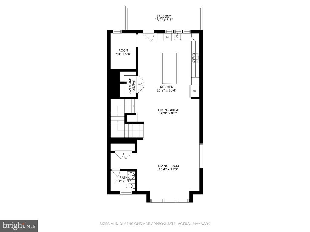 Main level with balcony and partial water view - 1638 SANDPIPER BAY LOOP, DUMFRIES