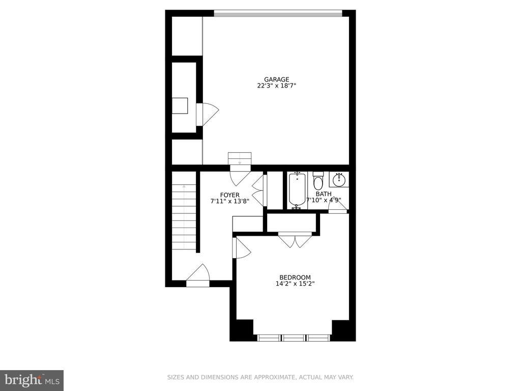 Entry Level floor plan - 1634 SANDPIPER BAY LOOP, DUMFRIES