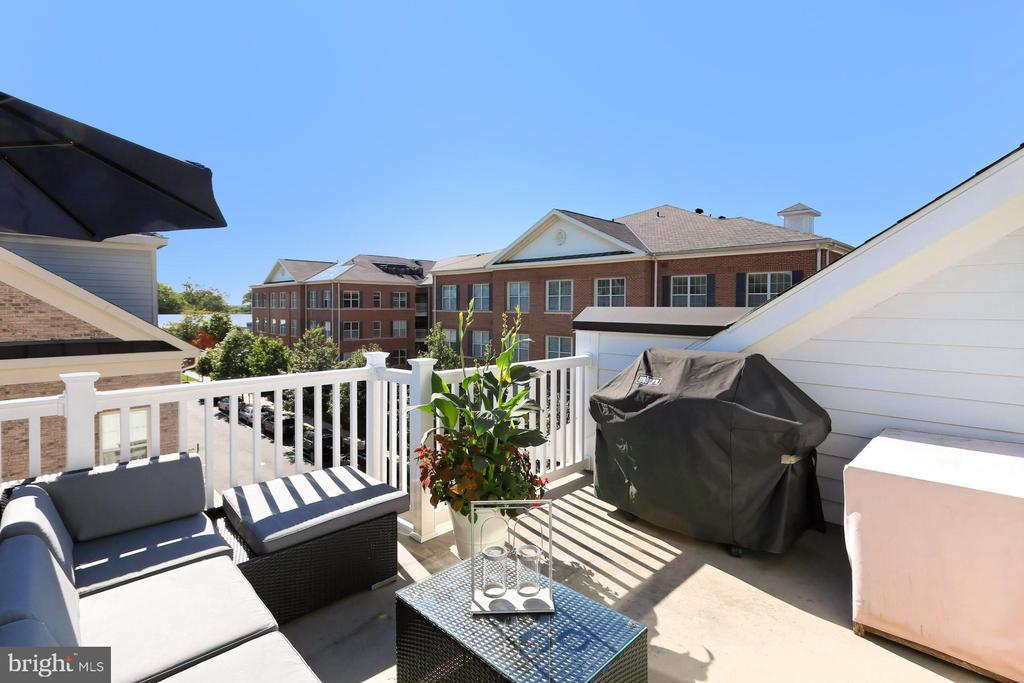 The roof terrace with gas grill hookup - 4348 4TH N, ARLINGTON
