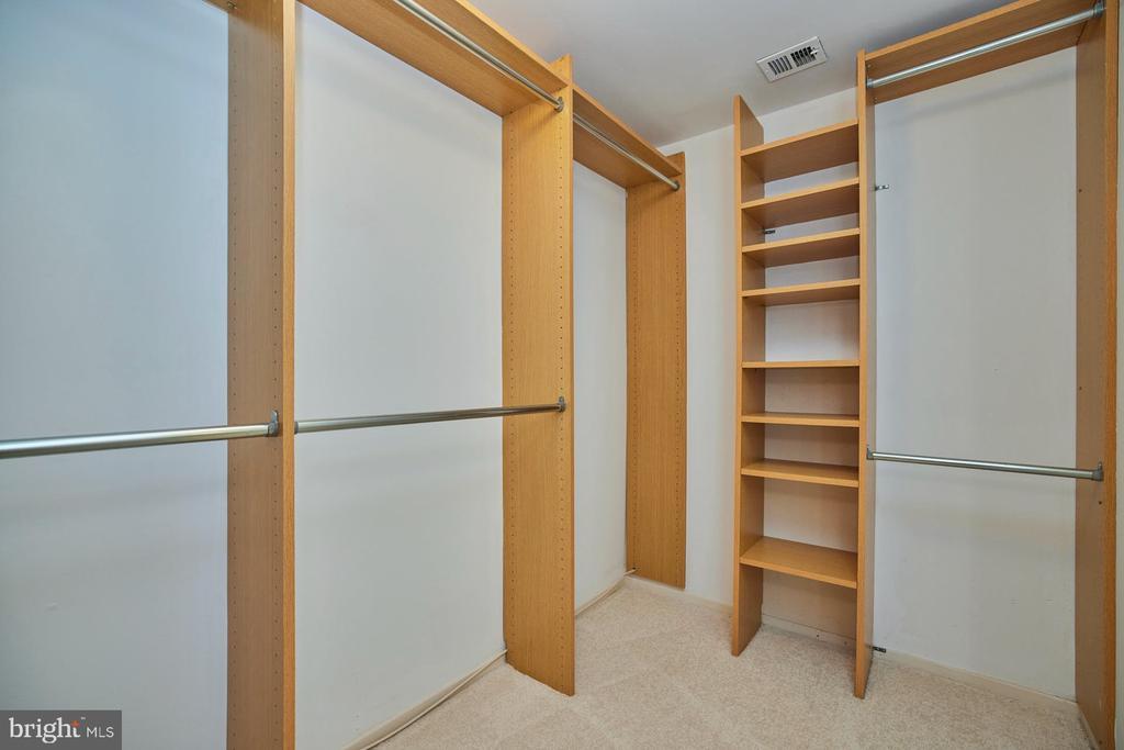 Walk-in Closet with Built-ins - 10300 BUSHMAN DR #204, OAKTON