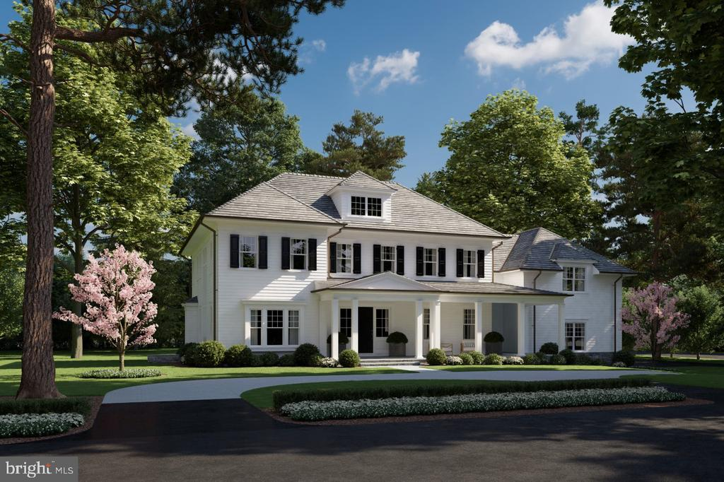 Welcome home to this thoughtfully designed NEW BUILD in the heart of one of Bethesda's most sought- after neighborhoods, Bradley Woods. This 6 bedroom, 5 bath stately home, with a 3 car garage and over 7,000 square feet of living space, sits on a rare acre corner lot. The gorgeous grounds of the property are notable through the mature trees and landscaping. Driveway with cobblestone edging, concrete aprons and decorative pavers add an attractive entrance to this stunning home. The expansive front porch, rear stone patio, and screened porch complete with see through indoor/outdoor fireplace offer an optimal setting for year-round entertaining. After entering the home, take notice of superb millwork and high-end finishes throughout. The first floor consists of an inviting foyer, office, elegant formal dining room, butlers pantry, mud room, large family room with coffered ceilings, fireplace and gourmet chefs kitchen. The beautiful open plan kitchen includes high end SS appliances, a large center island, marble countertops, and custom cabinetry. Two separate staircases lead to the second floor, where an expansive master suite is located. This room is complete with two spacious walk-in closets and a vanity sitting area leading to the luxurious en-suite bath. Inside the spa inspired master bathroom, you will find intricate tiling throughout, quartz counter-tops, a frameless glass encased walk-in shower and freestanding soaking tub. The upper level also offers a laundry room with utility sink, a separate linen room with built-ins, the remaining 4 spacious bedrooms and baths. The walk out basement has an in-law suite with a full bath, rec room, game room, and exercise room. The home allows for future improvements including an elevator and/or an outdoor pool for the most discerning buyer. The breathtaking residence is located inside the beltway and easily accessible to restaurants, shopping, commuter routes, airports and acclaimed country clubs. The approximate delivery dat