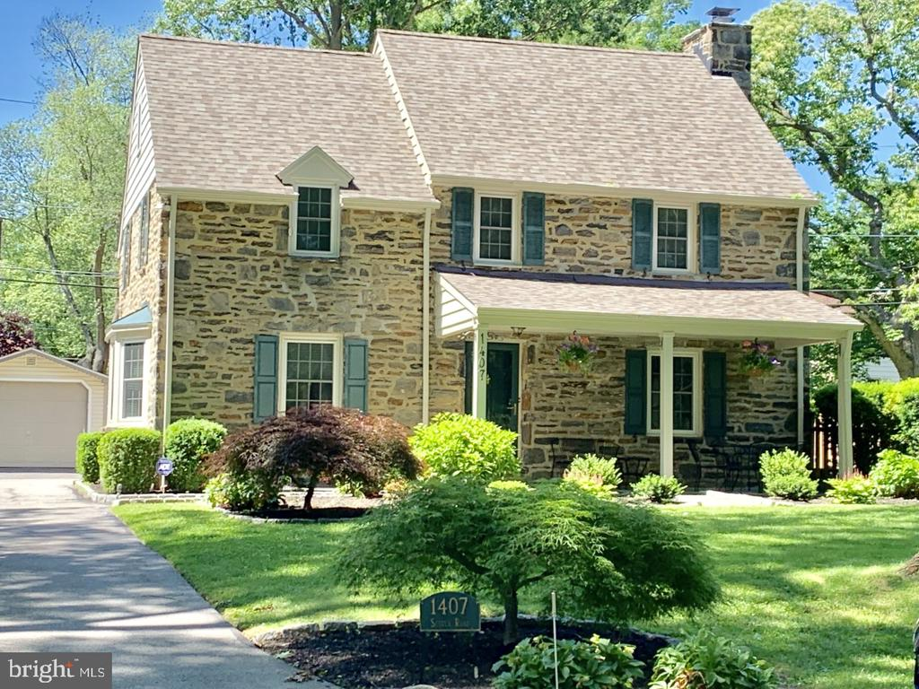 EXTREMELY RARE OPPORTUNITY TO OWN A RENOVATED, EXPANDED, & TURN-KEY STONE COLONIAL IN HIGHLY SOUGHT-AFTER SOUTH ARDMORE PARK! This Classic 1940's Main Line Stone Colonial w/PRIVATE DRIVEWAY & GARAGE is perfectly nestled on a beautifully landscaped flat lot in one of Wynnewood's most desired locations ~ just steps to the Park~ offering tennis courts, paved walking path, playground and more.  Walkable to the R-5 Train, New Whole Foods Market, Starbucks, Restaurants & Shopping.~ This impeccable 3 Bedroom 2 1/2 Bath home offers Character & Details of a By-Gone-Era, Modern Amenities & ABSOLUTE MOVE-IN CONDITION~+ LARGE FAMILY ROOM ADDITION on the first-floor w/ PRIVATE ENTRANCE that could serve as BEDROOM #4, In-Law, Au-Pair or Guest Suite!~~This pristine home has SO MUCH TO OFFER from the beautiful Stone facade, to the specimen plantings and Belgium Block lined drive to the welcoming Covered Front Porch overlooking the Park. Step inside and marvel at the condition of this beautiful home... Large Living Room w/ Recessed Lighting & Wood Burning Fireplace, Sun-Drenched Formal Dining Room w/ Bay Window, Newly Updated Kitchen w/ White Painted Cabinetry, Granite Counter tops, Vintage SUBWAY Tiled Backsplash, Designer Lighting & Stainless Steel Appliances which flows into the Breakfast Area & AMAZING FAMILY ROOM ADDITION w/ Private Entrance, Built-In Bookshelves & Doors to rear Slate Patio & Private/Serene Fenced Yard (Perfect for Outdoor Entertaining). Completing the first floor is a newly renovated powder room w/ stone topped vanity. The 2nd Floor offers Large Master Bedroom w/ His & Her Closets & En-Suite Bath w/ floor to ceiling Neutral Stone Tile w/Mosaic Accents, Granite Topped Vanity & Frameless Glass Shower + 2 Additional Large Bedrooms w/ Outfitted Closets & Updated Vintage Tiled Full Hall Bath w/ Glass Tiled Accent & Tub/Shower. The Finished Lower Level offers Play/Media Room, Abundant Storage & Full Laundry. Additional Features include: Newly Finished Gleaming Hardwood Floors, Newer~Roof (2017), Windows (2011), 2 Zone HVAC including New AC (2017) & Buderus High Efficiency Boiler, NEW Smart Thermostat, NEW Smart Timer for outside lighting, New Wireless Alarm, Newly~Renovated Kitchen, (3) Updated Bathrooms, Freshly Painted Interior & Exterior, New Chimney Liner, New Designer Lighting Fixtures, New Recessed Lighting Throughout, Professional Landscaping, PRIVATE DRIVEWAY, GARAGE w/ remote opener, Walk-Up Attic, FINISHED BASEMENT & STEPS TO SOUTH ARDMORE PARK. Most Convenient Walk-to Location & TOP RATED LOWER MERION SCHOOLS make this PRISTINE TURN-KEY, MOVE-IN READY HOME a RARE OPPORTUNITY NOT TO BE MISSED - DO NOT WAIT!!!