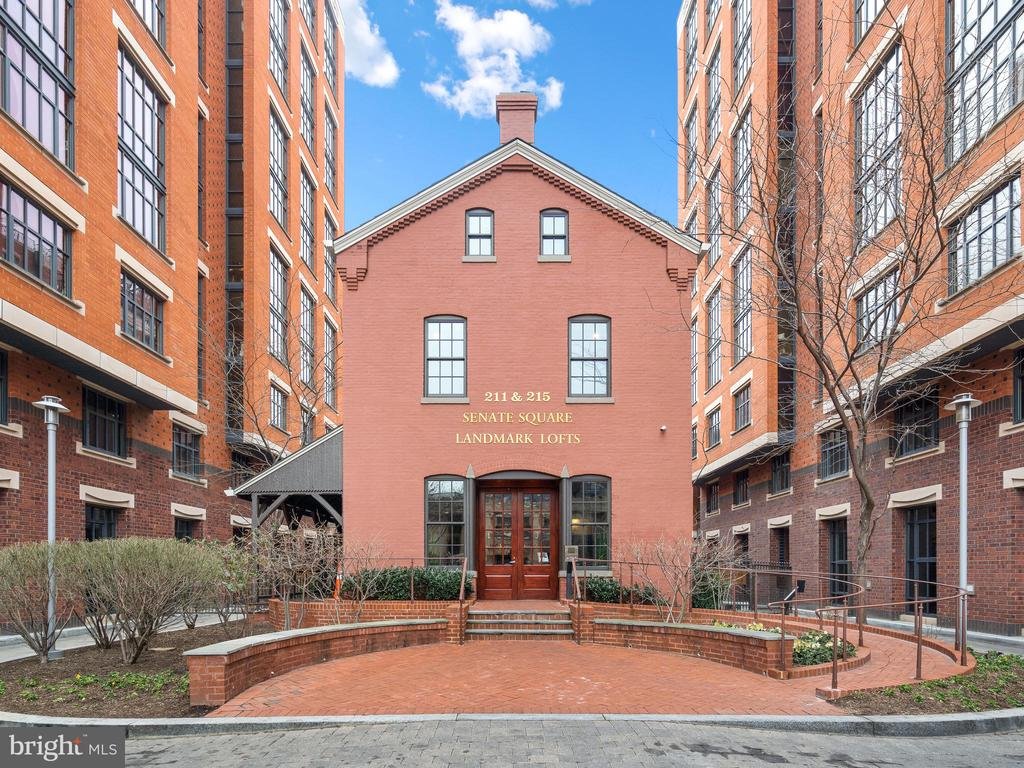Welcome home to  City Living at it's best! Historic Landmark Lofts is a premier restoration and conversion of a 130 year-old historic building by Abdo Development. A boutique condominium which is one of just 44 one-of-a-kind luxury residences. This stunning two-story condominium boasts 2,827 square feet of living space. High ceilings and large windows light up the family room and it's overlooking loft.  The kitchen is fit for a chef with top of the line Subzero and Wolf appliances and plenty of seating for spectators both in the dining area and the large island.  Beautiful hardwood floors throughout create the perfect flow to the outdoors where city views await from two private decks and a balcony. The second level loft features a wet bar and a dramatic beamed ceiling which is accentuated perfectly with track lighting.  The owners suite is the height of luxury with an enormous walk in closet you just have to see to believe!  You won't be disappointed with the spa-like owners bathroom complete with huge shower and enormous stand alone clawfoot tub.  There are numerous amenities such as 24-hour concierge desk, a fitness room, party room with a kitchen, bar and pool table, theatre room and a roof top pool with grills and seating. You'll never want to leave but it if you do, you're just steps away from all the conveniences. Giant Foods is across the street and Whole Foods is just two blocks away.  Countless dining and shopping options just outside your door and short walks to metro stations at Union Station and New York Ave. Unquestionably the premier Capitol Hill location! This home is unoccupied and available to tour safely in compliance with current guidelines.