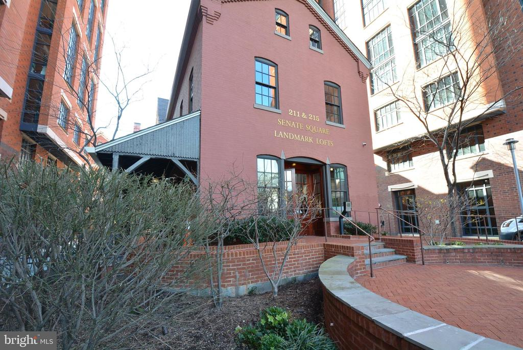 Elegant Gated-Community CONVENIENTLY Located near H Street Corridor.  SHOPPING, RESTAURANTS, WALKABLE-NO NEED FOR CAR Luxury Living at Landmark Lofts.  PRIVATE ENTRANCE HOME offers offers 3 sides of Windows and Bright Sunshine, 2 Bedrooms, 2 Baths-Bedrooms separated by EXPOSED BRICK Eat-In Kitchen with WOLF Stove, Quartz Countertops with Bar Seating.~ Enormous PRIVATE PATIO, Personal Wine Closet, and Underground Parking NEXT TO THE DOOR~ Amenities Galore with Private Theatre, ROOF TOP POOL, Gym, Concierge, and much much more.~ Minutes from H STREET, Union Station, Whole Foods, Metro and countless Eateries.  EVERYTHING YOU NEED, PRIVACY, SPACE, AMENITIES, and PARKING.  Schedule your personal tour today.