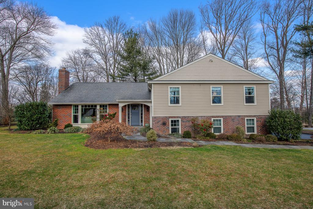 "Nestled on a beautifully landscaped one acre lot this well appointed Main Line oasis shines inside and out. ""Smart""house with ""Smart"" looks! From  the moment you walk up the flagstone walkway into the gracious Foyer you feel at home.. French doors open to a spacious light filled Living Room with large picture window, recessed light, hardwood floor and handsome mantle, wood burning fireplace as its focal point.  There is a half wall with columns, one can look  into stylish Dining Room with bead board trim and hardwood floor. This opens into an updated Kitchen with Stainless appliances, Island with butcher block counter top, skylight and hardwood floor. Back in the Dining Room, french doors open into a large screened  Porch with skylights, door leading to a flagstone Patio and walkway. Both the Porch and Patio overlook a gorgeous large flat fenced in backyard with Garden Shed. This backyard retreat is the perfect spot to relax and unwind.The 2nd floor leads to a lovely Master Bedroom which offers a walk in closet with closet system and a fabulous new Master Bath with Carrera marble vanity, large walk in Shower with seamless door, subway tile with rain shower head, faux hardwood tile floor, plantation shutter. Three secondary Bedrooms each with closet systems are serviced by a handsome new Hall Bath, double vanity with granite counter, tub/shower with subway tile and decorative insert, faux hardwood tile floor. Stairs to floored Attic for great storage.On the lower level there is a spacious Family Room with recessed lights, door to outside. There is a Laundry Room with set tub and counter with cabinets above and below, updated Powder Room and Utility Room with door to 2 car Garage. The Seller has enhanced the home with many improvements during their ownership such as: newer roof, gutters, downspouts, vented soffits, gutter guards, newer siding, windows, interior trim throughout, new doors, solid wood front and back doors, newer flagstone front walkway and back Patio, ""Smart"" switches and outlets, beautiful landscaping in the front, back and side yards and energy efficient Geothermal system and more. Easy access to popular Main Line shops, restaurants, commuter trains and close to all major roadways, plus the top rated Tredyffrin Easttown Schools. Pack your bags! Don't miss this opportunity to own this ""Smart"", pristine, stylish, turn key home!!"