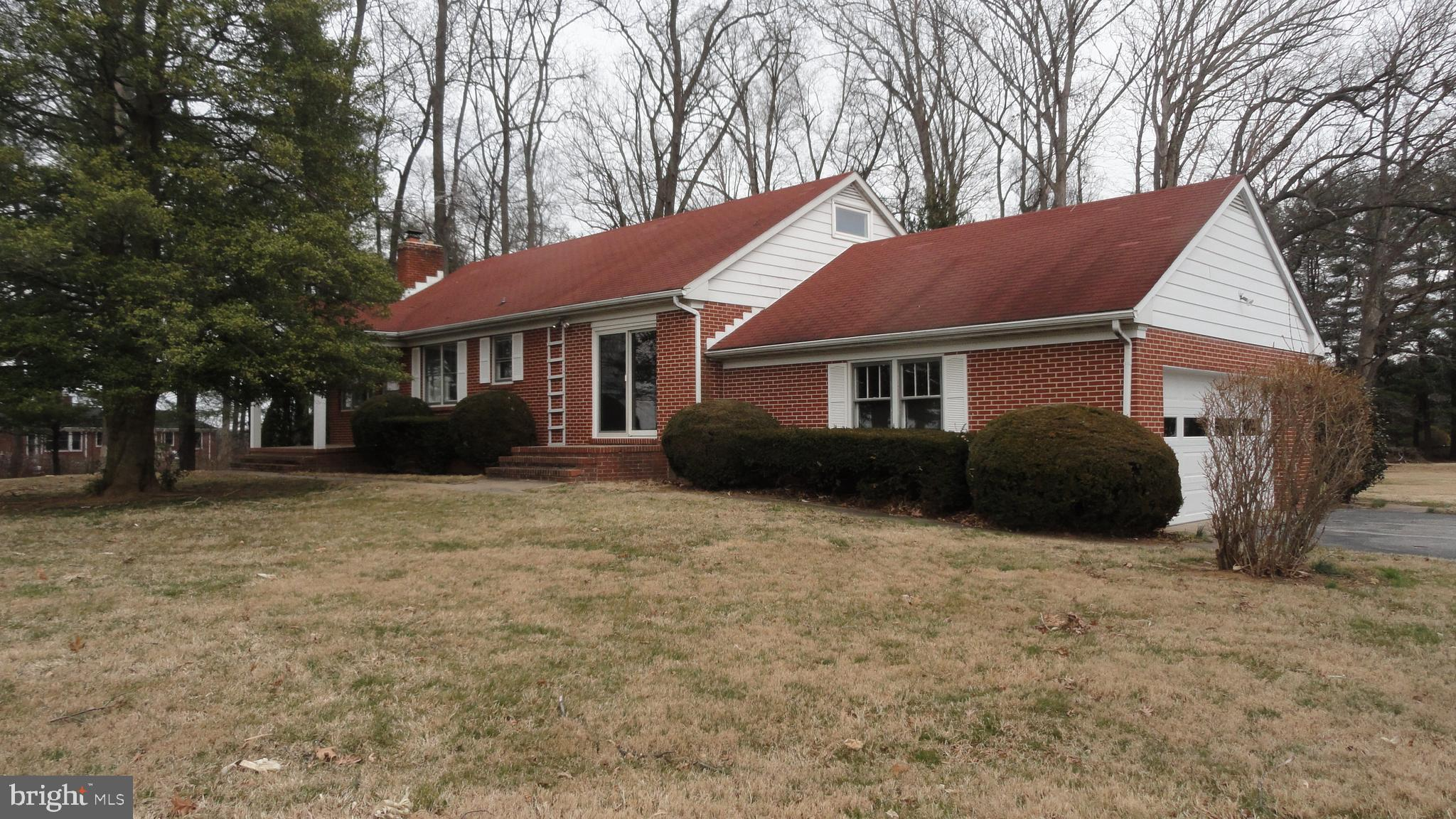 """This All Brick Rancher sits on a very nice 2.5 Acre Lot just north of Reisterstown/Glyndon.  Spacious home with 2045 sq. ft of living space on the main level.  The partial finished basement has a 2nd kitchen, rec room and family room area, plus storage area.  There are 2 bedroom on the main level and 2 bedroom on the upper level.  This property need updating.  The property is livable.  The property would be great for someone getting an FHA 203K rehab loan.  Investors are welcome. """"Property is being Sold As Is""""."""