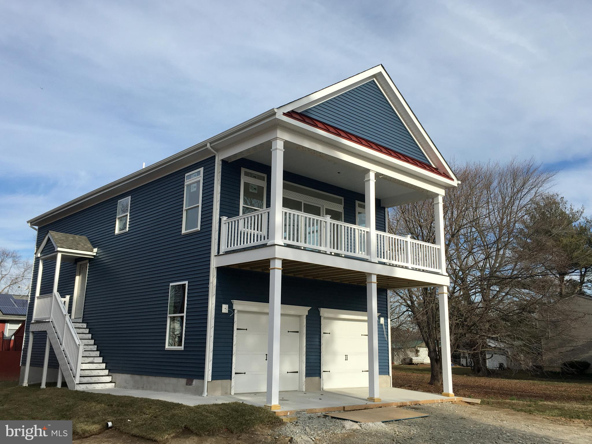 "Quick Delivery - New Construction with water-view of the Branch Canal, Public Marina, Fort DuPont and The Castle Trail Promenade. Beautifully designed Cottage Style Home with single floor living on upper level including  covered porch for outdoor living area and panoramic views. Wonderful lifestyle in this Historic, Walkable, Waterfront community on the Delaware River!!  Still time to make interior selections. 3 bedroom, 2 1/2 bath with Great Room / Kitchen / Dining combination with 9' ceiling height & trey ceiling. Nicely sized Owners Bedroom includes wonderful natural light / windows, oversized ceramic tile shower and walk-in closet. Oversized two car garage includes storage closets. Home is nearing completion with quick delivery possibilities. Upgraded features include; 42"" white cabinets & vanities, granite counter tops, oak stairs & railings, LVP Flooring, Ceramic tile floor and shower in owners bedroom, composite decking, vinyl porch post & railings and much more. Community includes the Delaware River, Branch Canal, Restaurants, Public Marina, Historic Main Street District, Hiking trails,  Battery Park and Fort DuPont all within walking distance of your front door. Rare opportunity to own new construction and lifestyle that most people only dream of!"