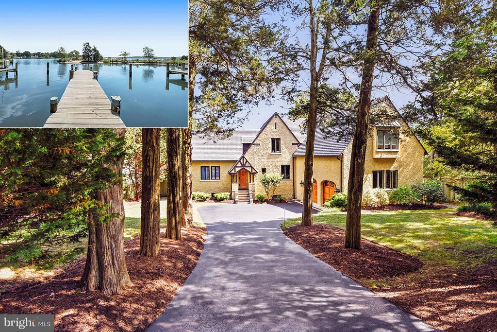 """Waterfront living at its best!  Spectacular views down the South River, a private pier on a protected cove, and 3 levels of waterside porches overlooking the heated pool with spa and waterfalls! This beautiful home with details of a bygone era including a dramatic living room with 30 ft ceiling and hand-carved moldings got a major addition to create a WOW kitchen & family room as well as a luxe master suite upstairs. The gourmet kitchen opens to the huge porch so you can easily prepare meals and dine outside or in the formal dining room. The master suite includes two """"California closets"""", a large bedroom with private porch, and a spa-like bathroom with jetted tub and separate marble-topped vanities. The walk-out, lower level offers a game room with gas fireplace, exercise room, 5th bedroom and plenty of storage. There's a fully fenced yard, oversized two-car garage with epoxy floor, and in-ground sprinkler system . Fantastic Wild Rose Shores community has a boat ramp and community playground, and it's just minutes to downtown Annapolis and Routes 50 & 97.  If you are looking for a resort oasis, this is it! See the video on-line."""