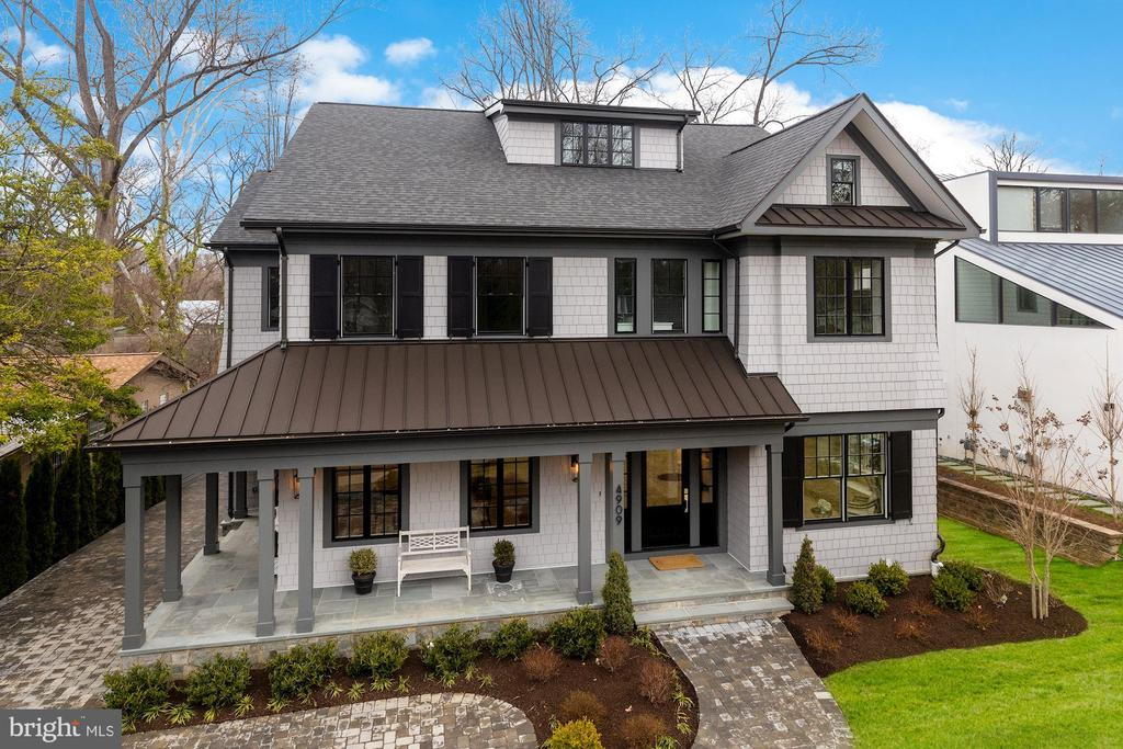 Beautifully constructed and appointed, this 2019 NEW house in sought after Somerset in Chevy Chase, MD checks off everything on a buyer's wish list including a thoughtfully-designed floor plan with excellent flow & proportions, beautiful light, high-end finishes and custom-built appointments throughout. The 6BR/6.5 BA house of approx. 7200 total  s.f., plus detached two-car garage, covered deck and balcony, has everything in the right place: Four large BR's and en suite BA's on 2nd floor including an incredible owner's suite w/ private balcony; beautiful 3rd floor BR suite and office; great lower level; a gorgeous, large, top-of-the line kitchen with grand, four-seat island, adjoining large informal dining/breakfast area and adjacent open large family room with FP opening to covered deck. There is separate front entrance to a terrific mud-room. PLUS there is a proper living room and separate large formal dining room with custom butler's pantry, all off a gracious central hall w/handsome wide, light-filled staircase. Please see floor plan. Conveniently located just north of the DC line, the special enclave of The Town of Somerset is over 100 years old (see townofsomerset website) and offers a community swimming pool, tennis courts, basketball courtand more. It is a short walk to Metro, the Capital Crescent Trail, and nearby shopping.