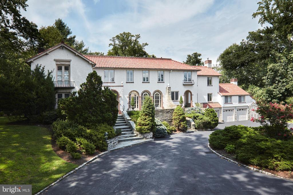 "***CHECK OUT THE 3-D TOUR AT: https://my.matterport.com/show/?m=uKEuwxY4be4&mls=1*** Welcome to this lovely sun- filled residence set on a breathtaking lot with circular entrance courtyard, flagstone terraces and pool, on one of North-side Haverford's most exclusive and beautiful neighborhoods in a ""walk to everything"" location. .  Enjoy complete privacy in close proximity to renowned schools, clubs, restaurants, Center City Philadelphia, Philadelphia International Airport and trains, including the 1-hour Acela train to New York. This gracious home has been extensively renovated in recent years using only the finest materials, finishes, designs and craftsmanship. Features include updated systems, wiring and plumbing, a full house generator, elevator, new windows and doors with original restored hardware,  stunning oak floors,  moldings and millwork, 5 fireplaces, beautiful Living and Dining Rooms, large Sun Room with endless views of the grounds and pool, Library, Morning Room with lovely terrace, expansive Gourmet Kitchen, Butler's Pantry and Breakfast Room area with adjacent Family Room and full bathroom to service the pool, Luxurious Master Suite with sitting room, His and Hers walk- in closets and marble Bath, 4 additional spacious Bedrooms, three additional Carrara marble Baths on the second floor, partially finished Lower Level with Wine Cellar, lots of Storage and spacious 4 car Garage. Look no further: https://www.seetheproperty.com/r/342597"