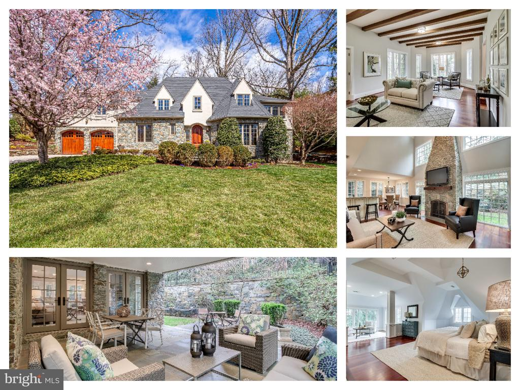 Rare opportunity for a custom designed Tudor on 0.31 acre in sought after Country Club Hills. Visit: http://homes.btwimages.com/3207nwakefieldst/?mls for 3D Tour, Floor Plans and 100+ Photos.   Amazing curb appeal with extensive stone hardscaping and total privacy makes this gem one-of-a-kind.  Enjoy the gourmet kitchen with custom cabinetry, granite, farm sink + prep sink, high end stainless steel appliances, eat-up island + large pantry - opens to breakfast room and 2 story Family Room with 2 story stone fireplace (1 of 3) and wall of windows.  French doors lead out to expansive covered patio for extended outdoor living with extreme privacy.  Enjoy the stone fountain and lush landscaping.  Oversized 2 car garage with stone breezeway into kitchen (also a great space to convert to mudroom or 2nd laundry).  Living Room/2nd family room with exposed wood beams 2nd fireplace and hardwood floors.  French doors to office with 3 walls of windows and door to backyard.  Formal dining and 2 story entryway are sure to impress your guests.   Upstairs is 4 bedrooms with expansive master including 3rd fireplace with custom mantel, sitting area with golf club views,  large walk-in closet, and tons of charm.  Master bath has separate vanities, jacuzzi tub, glass shower, skylight and private commode.   2nd master suite on the other side includes a private entrance, perfect for in-law or au-pair suite.  Spacious 3rd and 4th bedrooms with cathedral ceiling and renovated 3rd bath.  Balcony with wrought-iron banister overlooks the family room and out to the 2nd story windows.   Basement includes 4th full bath and 5th bedroom/rec room.   Perfectly nestled in the middle of Country Club Hills on quiet street and great privacy.  NO PUBLIC OPEN HOUSES. OPEN EVERY DAY - SCHEDULE BY APPOINTMENT WITH REALTOR.