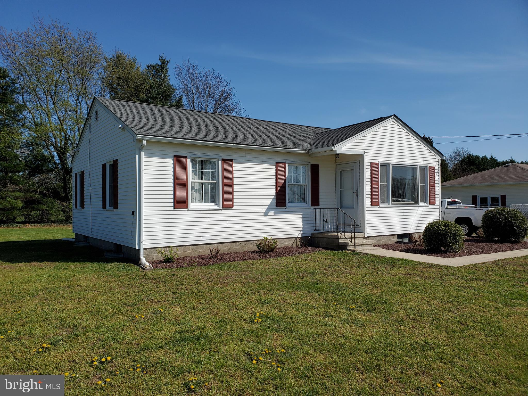 This move in ready 3 bedroom 1 bath home with full basement is ready for a new owner.  The rooms have all been freshly painted and new wide plank laminate flooring has been installed in the living room and kitchen areas.  New carpet has been installed in the bedrooms.  The full basement is unfinished but, offers extra spaces and all the mechanical items are in the basement, so the living area is just for living.  The tree lined yard offers lots of privacy, yet you have all the conveniences of being close to town and Rt 1.  The road this home is on is not a through road, so lots of places to walk and enjoy your new home.